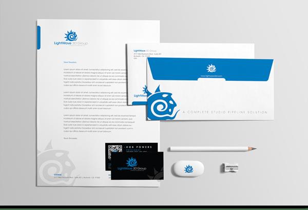 17 Kop Surat dengan Desain Elegan - LightWave 3D Group - Stationary - Kop Surat Desain Elegan