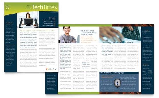 Template Desain Download Gratis - Template-Desain-NewsLetter-Download-Free-PDF