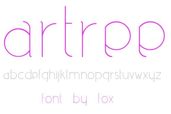 62 Font Unik untuk Desain Grafis - download-font-gratis-Artree-Free-True-Type-Font