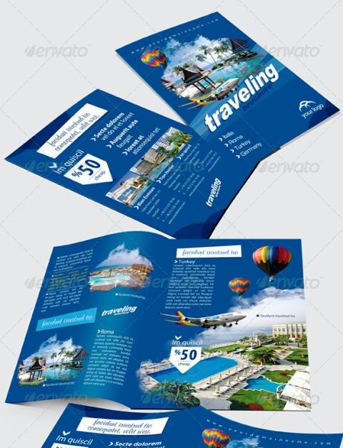 Contoh Desain Brosur Tour dan Travel Terbaik