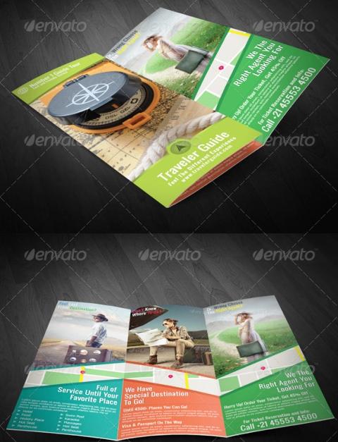 25 Contoh Desain Brosur Tour Dan Travel Terbaik - Brosur-Tour-dan-Travel-Traveler-Guide-Trifold-Brochure