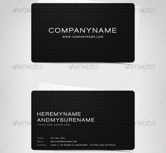 14 Desain Kartu Nama Perusahaan - Desain-Kartu-Nama-Exclusive-Business-Card-Black-and-White