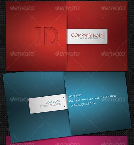 14 Desain Kartu Nama Perusahaan - Desain-Kartu-Nama-Modern-Style-Business-Card-5-Different-Colors