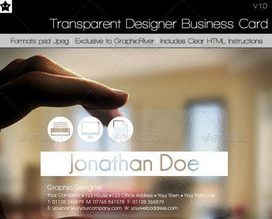 14 Desain Kartu Nama Perusahaan - Desain-Kartu-Nama-Perusahaan-Transparent-Designer-Business-Card