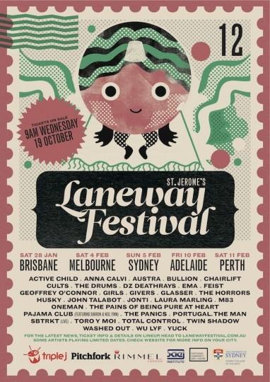 46 Contoh Poster Desain Inspiratif - Poster-inspiratif-tentang-Laneway-Festival