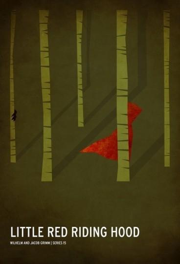 46 Contoh Poster Desain Inspiratif - Poster-inspiratif-tentang-Little-Red-Riding-Hood-yang-didesain-oleh-Christian-Jackson