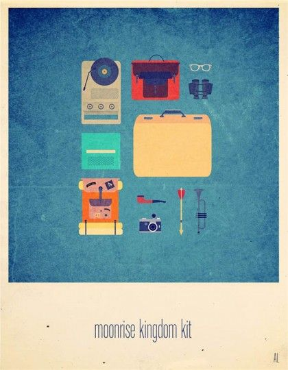 46 Contoh Poster Desain Inspiratif - Poster-inspiratif-tentang-Moonrise-Kingdom-yang-didesain-oleh-Alizee-Lafon