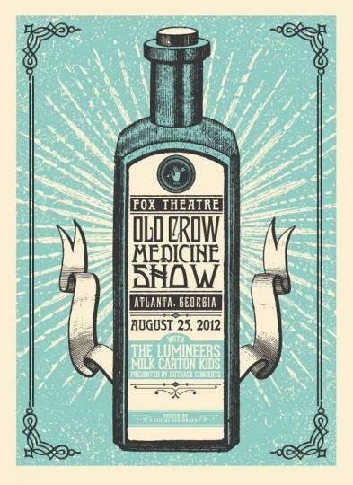 46 Contoh Poster Desain Inspiratif - Poster-inspiratif-tentang-Old-Crow-Medicine-Show