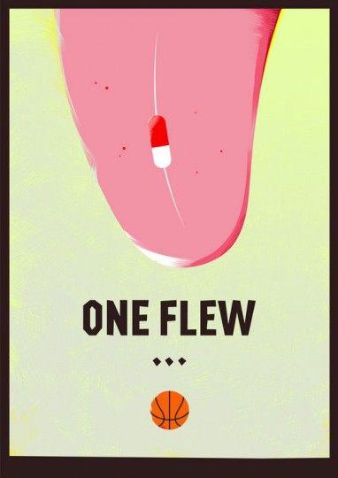 46 Contoh Poster Desain Inspiratif - Poster-inspiratif-tentang-One-Flew-Over-the-Cuckoos-Nest-oleh-Rocco-Designs