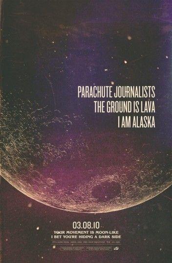46 Contoh Poster Desain Inspiratif - Poster-inspiratif-tentang-Parachute-Journalists-Dark-Side-oleh-Jeff-Finley