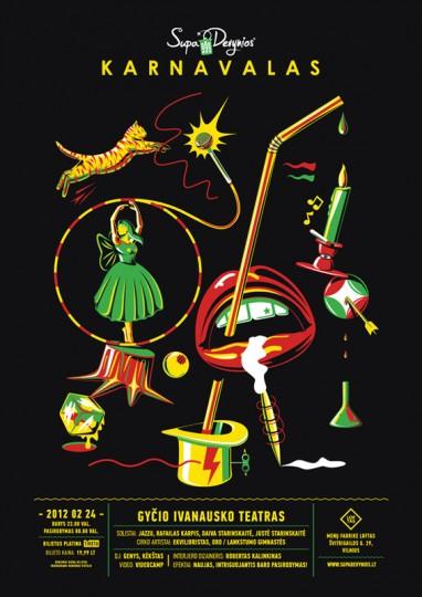 46 Contoh Poster Desain Inspiratif - Poster-inspiratif-tentang-Supa-9-oleh-Dziugas-Valancauskas