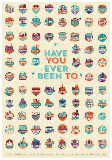 46 Contoh Poster Desain Inspiratif - Poster-inspiratif-tentang-travel-kota-kota-dunia-yang-didesain-oleh-Federica-Bonfanti