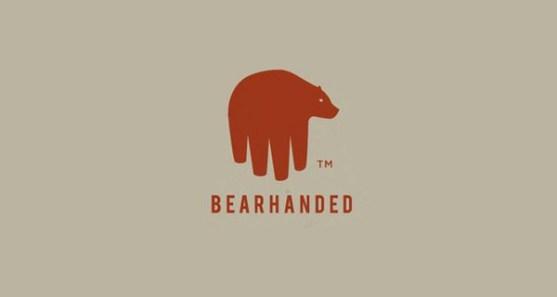 48 Contoh Logo dengan Simbol Tersembunyi - Bear-Handed-Logo