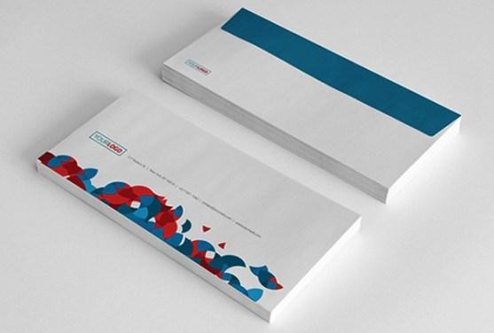 24 Contoh Desain Amplop Kreatif - Contoh-Desain-Amplop-Circles-Stationery-Pack
