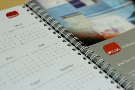 Contoh Buku Agenda Desain Cantik untuk Corporate - Desain-Buku-Agenda-ABACUS-Agenda-Calendar-2