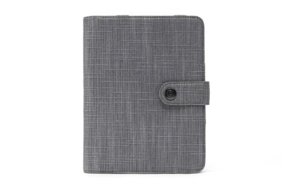 Contoh Buku Agenda Desain Cantik untuk Corporate - Desain-Buku-Agenda-Booqpad-Mini-Gray-1