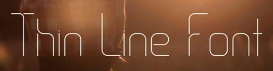 30 Koleksi Font Terbaik untuk Desain - Thin Line Font