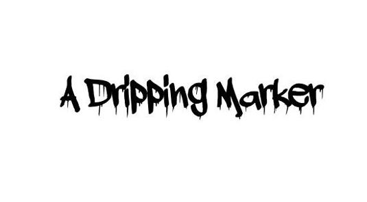 43 Font Graffiti Free Download - A Dripping Marker Grafiti Font