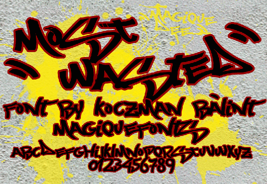 43 Font Graffiti Free Download - Most Wanted Grafiti Font