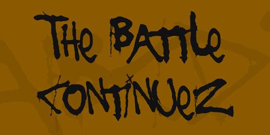 43 Font Graffiti Free Download - The Battle Continuez Grafiti Font