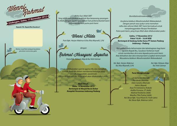 37 Contoh Konsep Undangan Pernikahan Indonesia - Konsep-Undangan-Pernikahan-Indonesia-Wenni-Rahmat-Wedding-Invitation