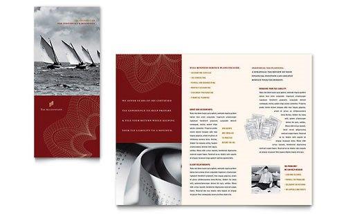 36 Contoh Desain Pamflet dan Brosur Jasa Keuangan - Brochure & Pamphlet Design-Akuntan-Pajak
