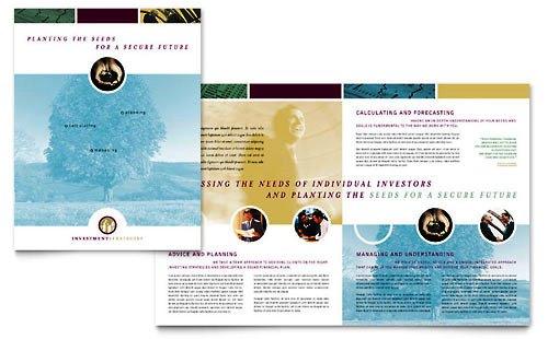 Contoh Desain Pamflet Dan Brosur Jasa Keuangan Premium Download