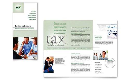 36 Contoh Desain Pamflet dan Brosur Jasa Keuangan - Brochure & Pamphlet Design-Layanan-Akuntansi-dan-Pajak