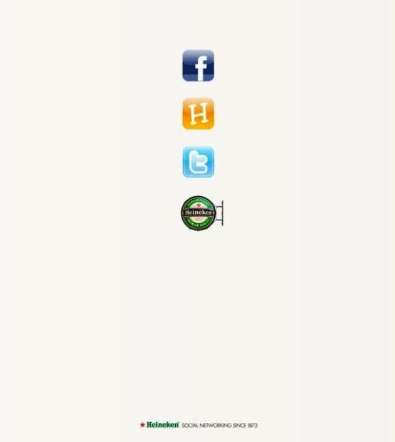 Contoh Format Iklan Advertising dengan Desain Minimalis - Contoh-11-Desain-Iklan-Minimalis-Heineken-Social-Networking-Since-1873