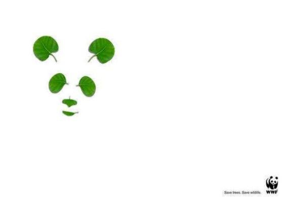 Contoh Format Iklan Advertising dengan Desain Minimalis - Contoh-36-Desain-Iklan-Minimalis-WWF-Panda