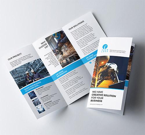 Contoh Desain Brosur Lipat Tiga - Contoh-Desain-Brosur-Lipat-3-terbaru-Business-Corporate-Trifold