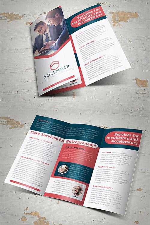 Contoh Desain Brosur Lipat Tiga - Contoh-Desain-Brosur-Lipat-3-terbaru-Dolemper-Business-Trifold