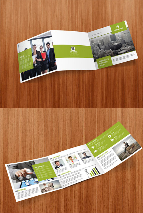 Square Tri Fold Business Brochure Free Download