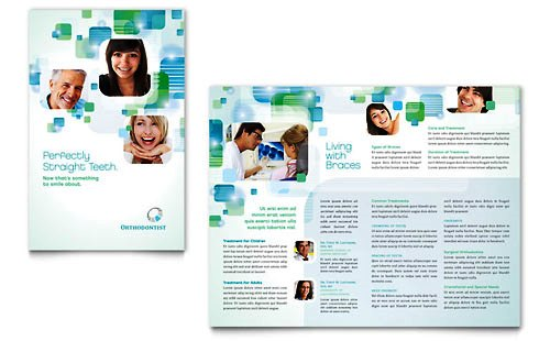Desain Brosur Pamflet Kesehatan dan Medis - Contoh-Pamflet-Brosur-Kesehatan-Gigi-Orthodontist