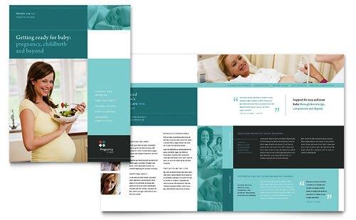 Desain Brosur Pamflet Kesehatan dan Medis - Contoh-Pamflet-Brosur-Klinik-Kehamilan