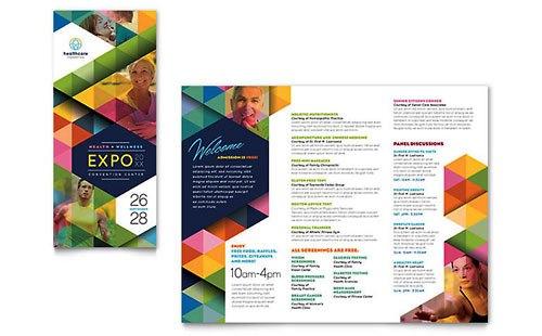 Desain Brosur Pamflet Kesehatan dan Medis - Contoh-Pamflet-Brosur-Pameran-Kesehatan-Health-Fair