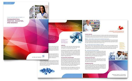 Desain Brosur Pamflet Kesehatan dan Medis - Contoh-Pamflet-Brosur-Sekolah-Akademi-Farmasi