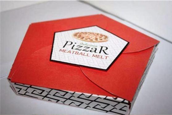 Desain Kemasan Pizza Unik Menarik Inspiratif - Gambar-Foto-Desain-Box-Kemasan-Pizza-berbentuk-segilima-yang-mudah-dibuka-dari-arah-tengah-kemasan