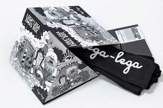Desain Kemasan Packaging Kaos T Shirt Kreatif Bagus - Kemasan-T-Shirt-Bentuk-Kreatif-Ilustrator-Komik
