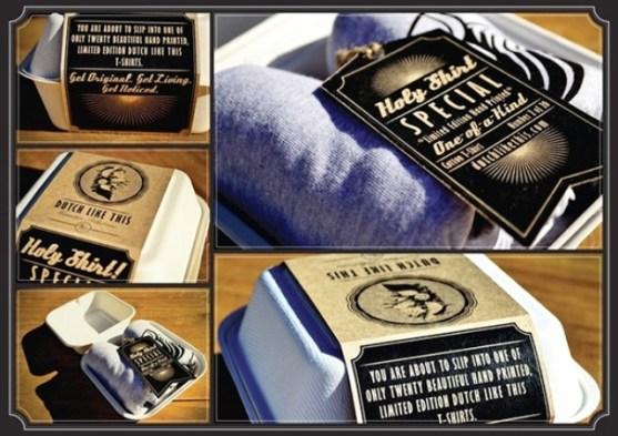 Desain Kemasan Packaging Kaos T Shirt Kreatif Bagus - Kemasan-T-Shirt-Catering-Kotak-Makan-Siang-2