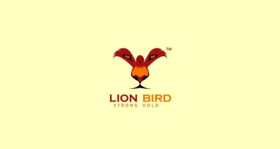 48 Contoh Logo dengan Simbol Tersembunyi - Lion-Bird-Strong-Hold-Logo