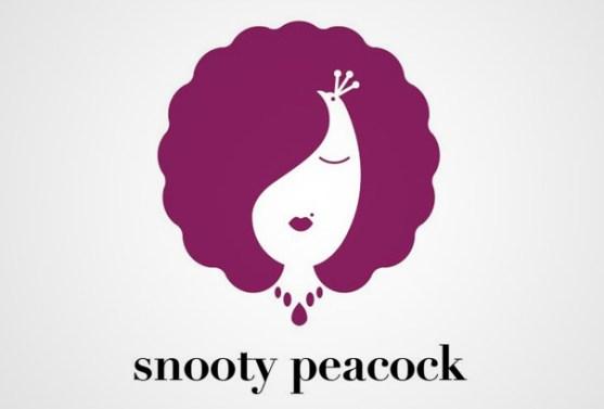 Logo dengan Desain Spasi Negatif - Logo-Snooty-Peacock