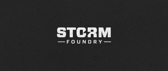 Logo dengan Desain Spasi Negatif - Logo-Storm-Foundry