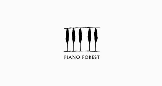 48 Contoh Logo dengan Simbol Tersembunyi - Piano-Forest-Logo