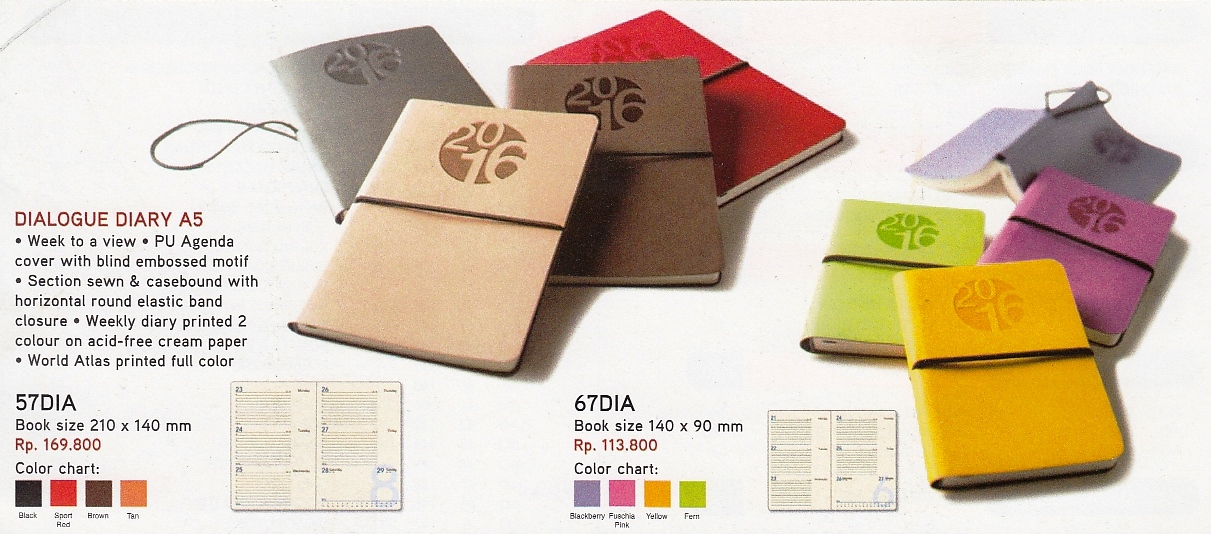 5 Desain Buku Agenda dari Executive Organizer AO Calendar