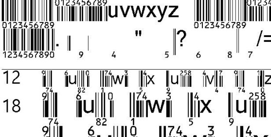 30 Best Font Barcode Download Free - EanBwrP36Tt (TrueType)