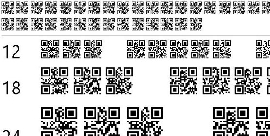30 Best Font Barcode Download Free - QR font tfb (TrueType)