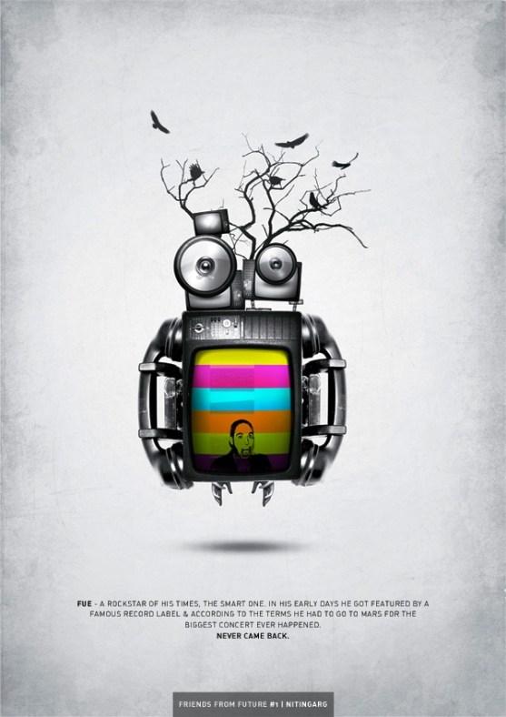 17 Desain Poster Motivasi yang Unik - Friends from Future