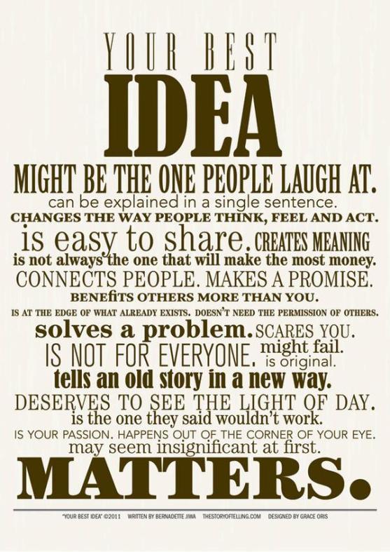 The Idea Manifesto