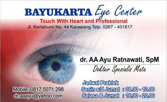Kartu Nama Dokter Spesialis Mata dan Kandungan